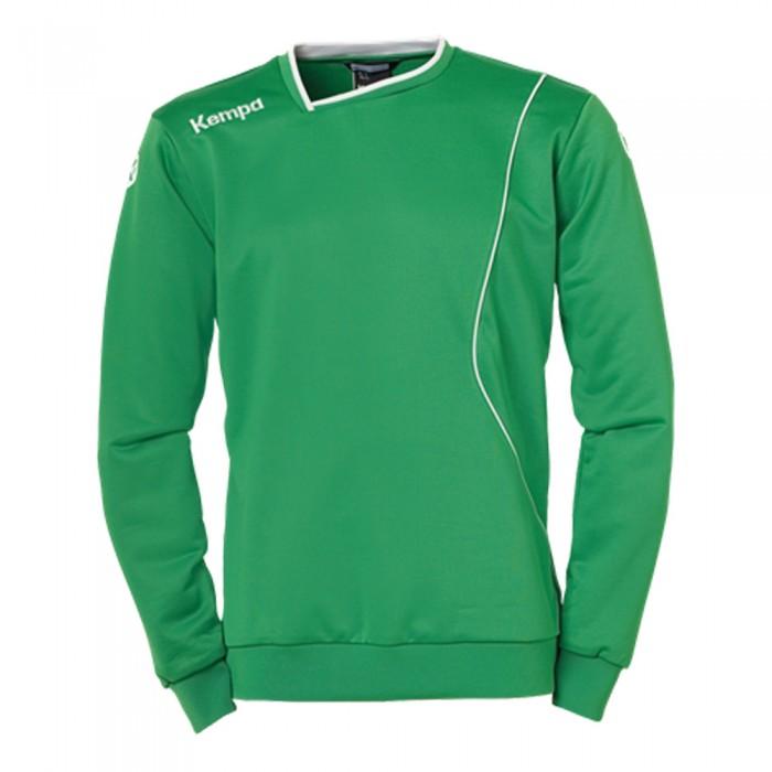 Kempa Curve Kinder-Trainingssweatshirt grün/weiß