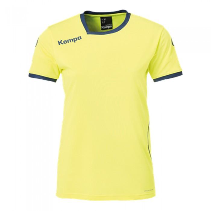 Kempa Curve Damen-Handballtrikot neongelb/marine