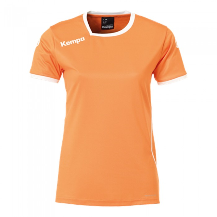 Kempa Curve Damen-Handballtrikot orange/weiß