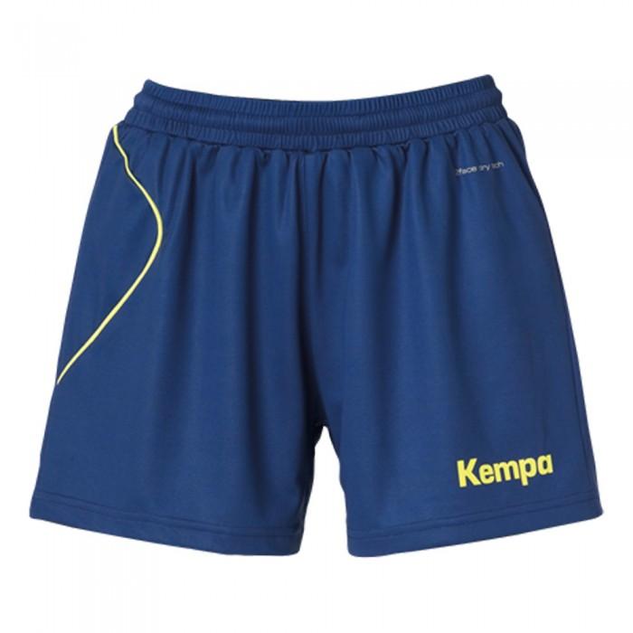 Kempa Curve Damen-Short marine/neongelb