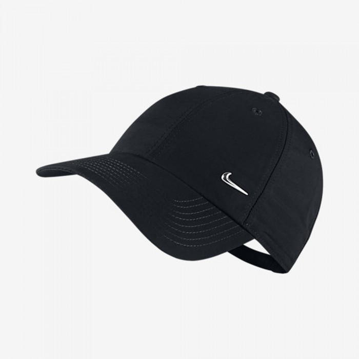 Nike Metal Swoosh Logo Cap schwarz