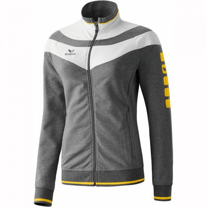 Erima 5-Cubes Jacket Fashion Damen grau meliert/weiß