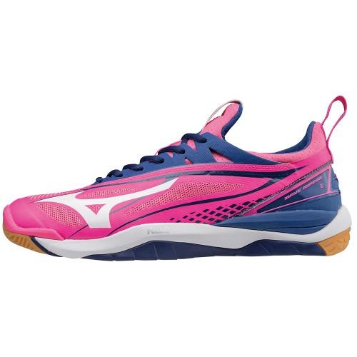 Mizuno Handballschuhe Wave Mirage 2 Damen pink/blau