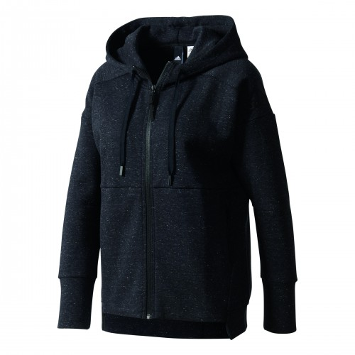 Adidas Stadium Hooded Jacket Woman grau-meliert