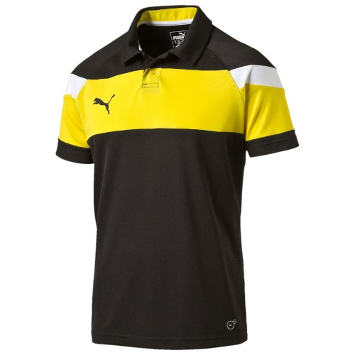 Puma Spirit II Polo black/yellow/white