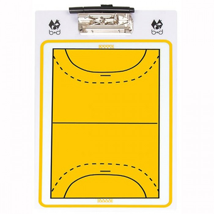 "B+D Handball Coach-Board ""Basic"" yellow/whie"