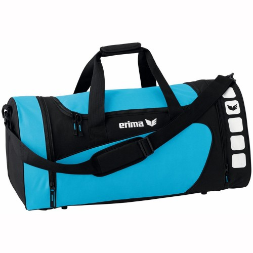 Erima Sports bag Club 5 Line lightblue/black small