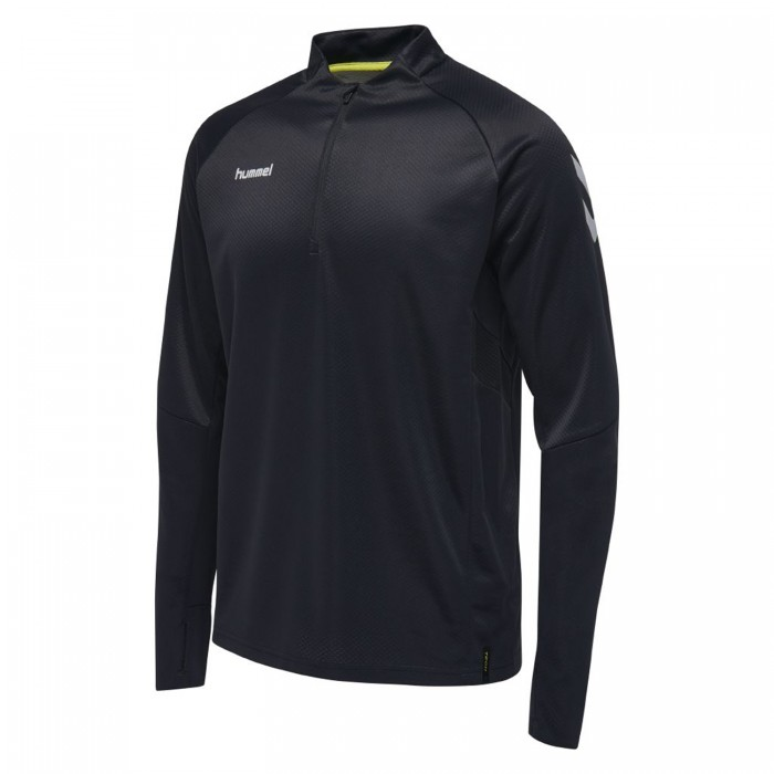 Hummel Tech Move ½ Zip Sweatshirt Kinder schwarz