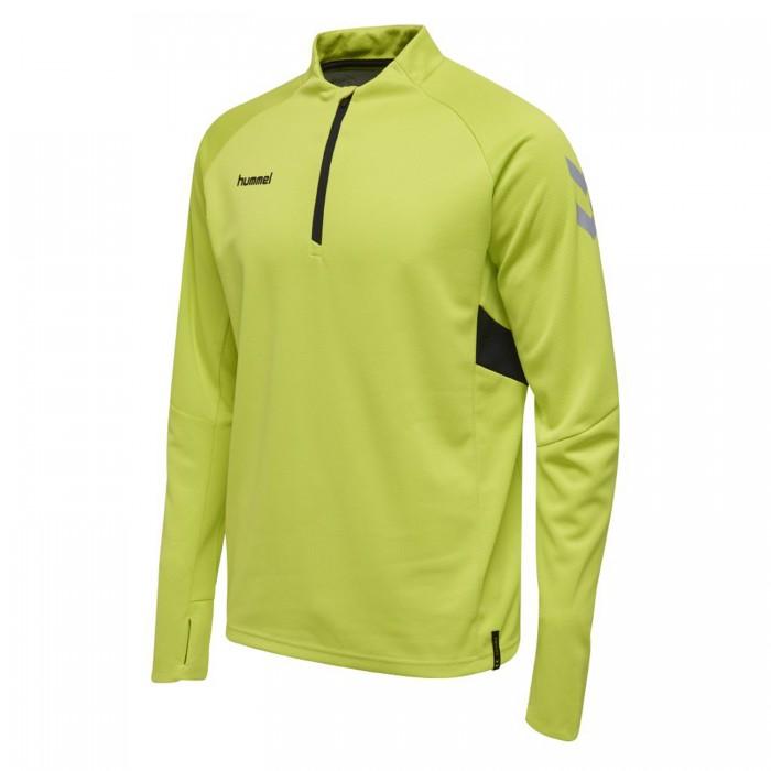 Hummel Tech Move ½ Zip Sweatshirt Kinder neongrün