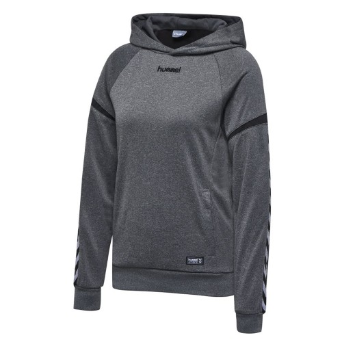 Hummel Authentic Charge Poly Hoodie Damen grau
