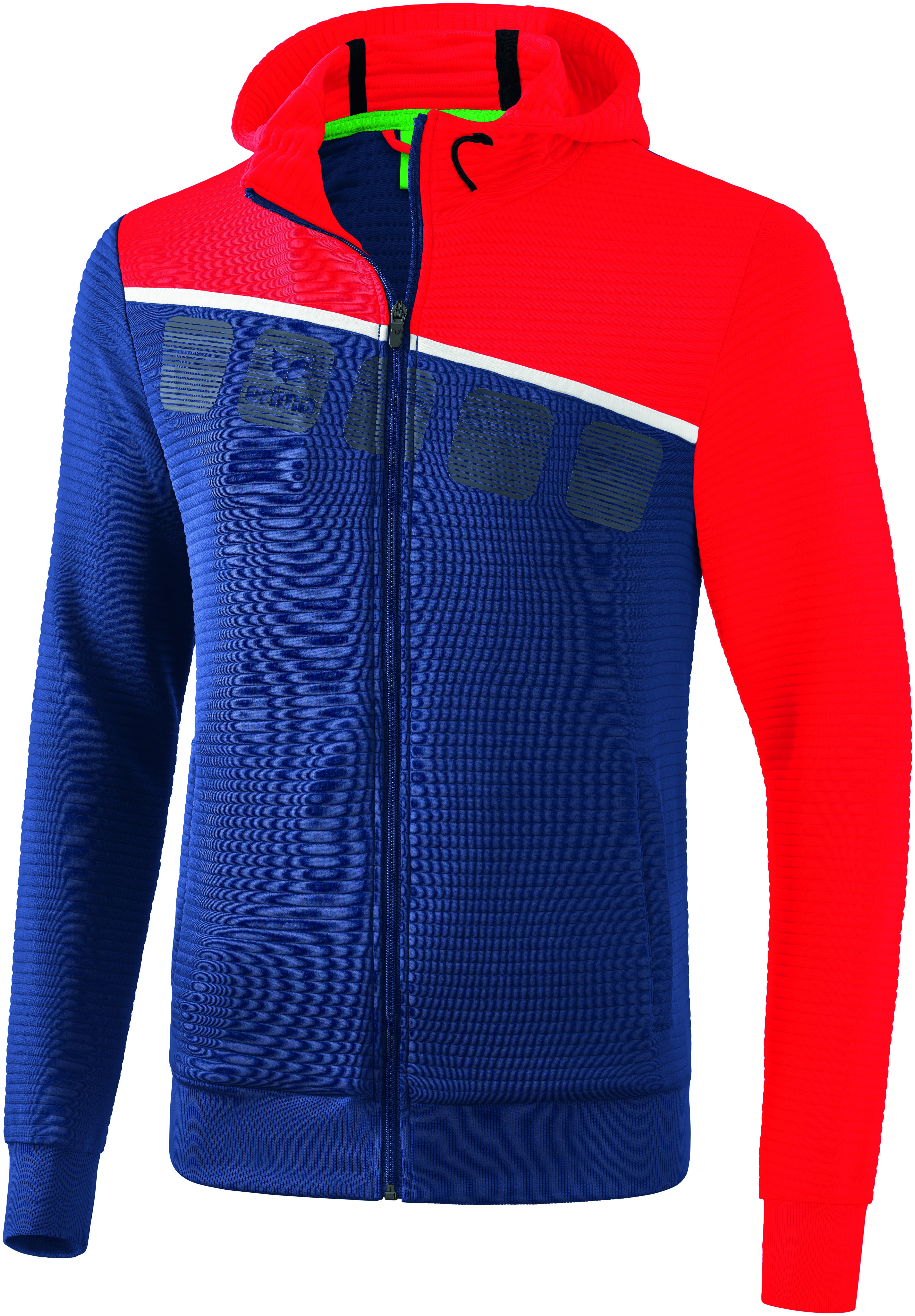 Erima 5-C Trainingsjacke mit Kapuze, L, Herren Herren 1031907
