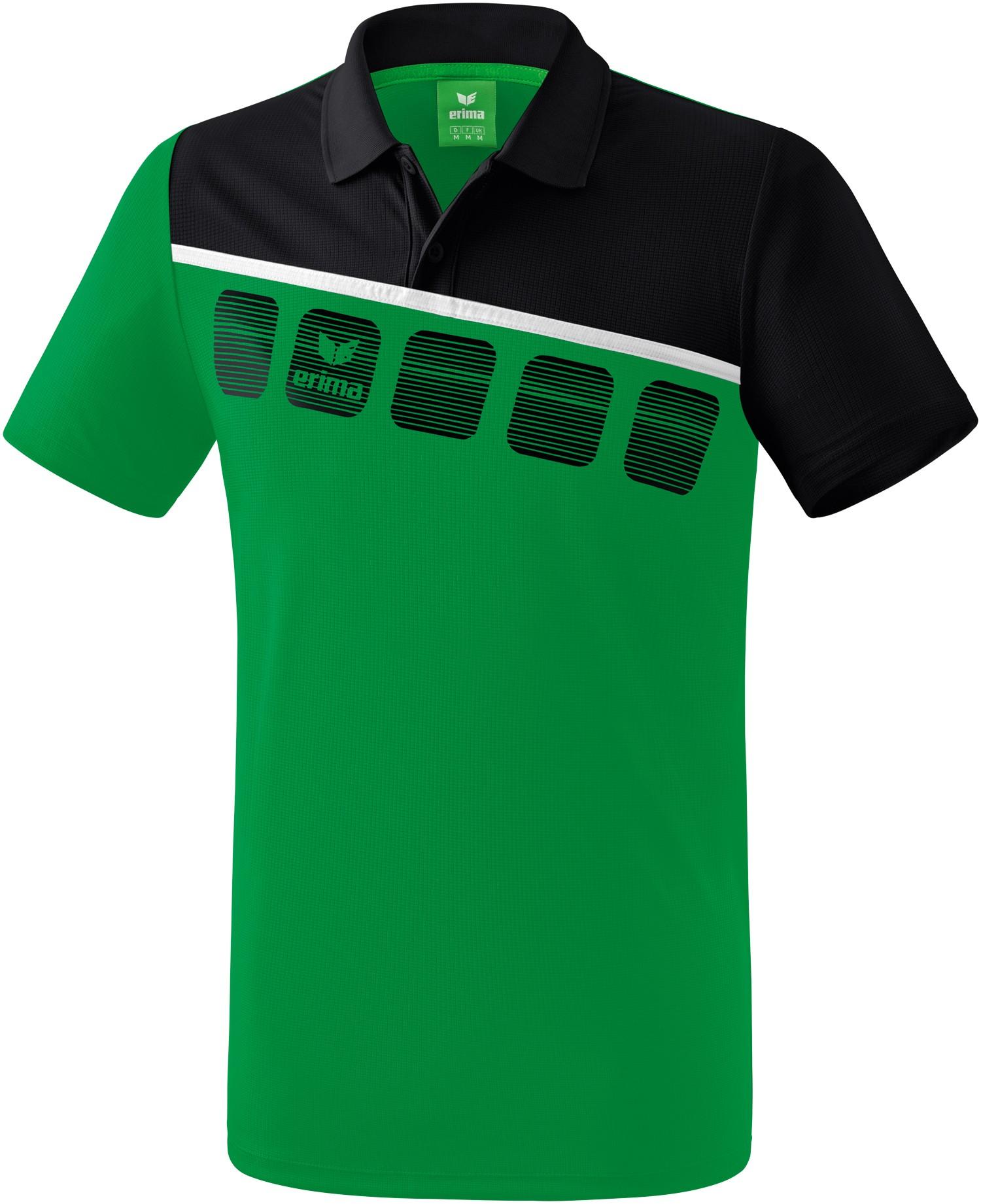 Erima 5-C Poloshirt Kinder, 128 Unisex 1111905