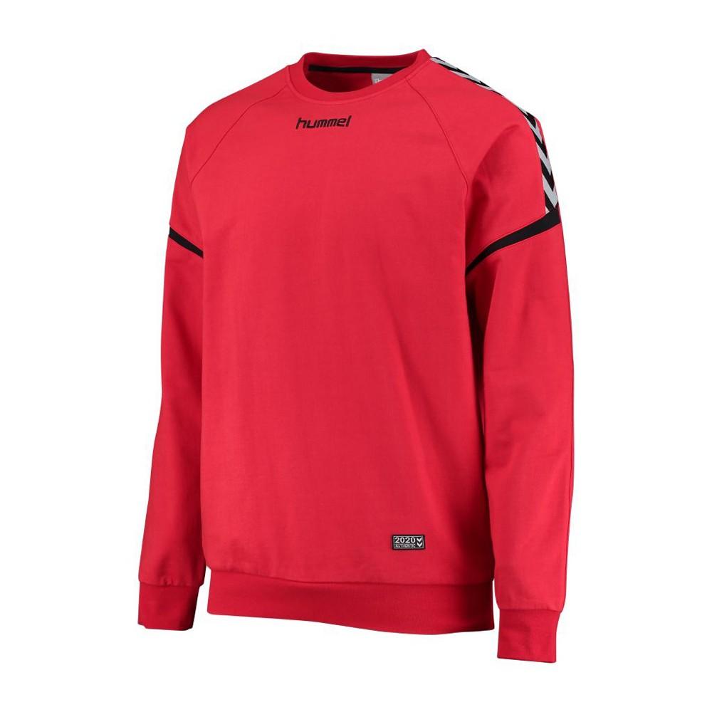 Hummel Authentic Charge Baumwoll Sweatshirt Kinder rot, 140/152 Unisex 103-709-3062
